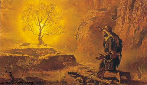 Moses and Burning Bush by A Friberg